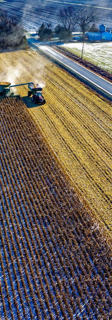 Farm Tractor Harvesting